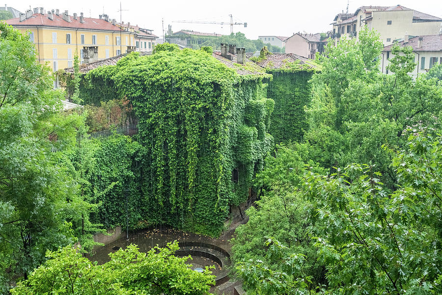 Refreshing Rain - Biophilic Houses in a Downpour in Milan Italy by Georgia Mizuleva