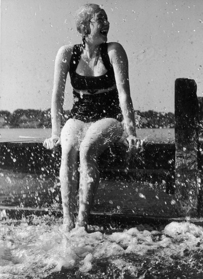 Refreshing Splash Photograph by Heinz V. Perckhammer