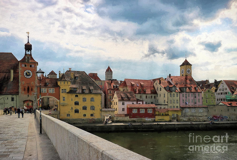 Regensburg - City on the Danube by Jutta Maria Pusl