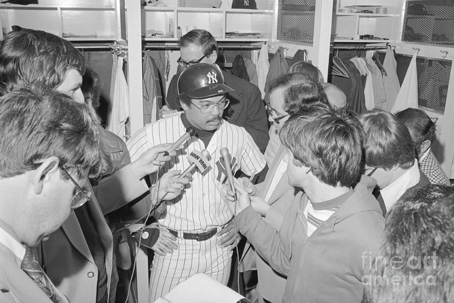 Reggie Jackson Being Interviewed Photograph by Bettmann