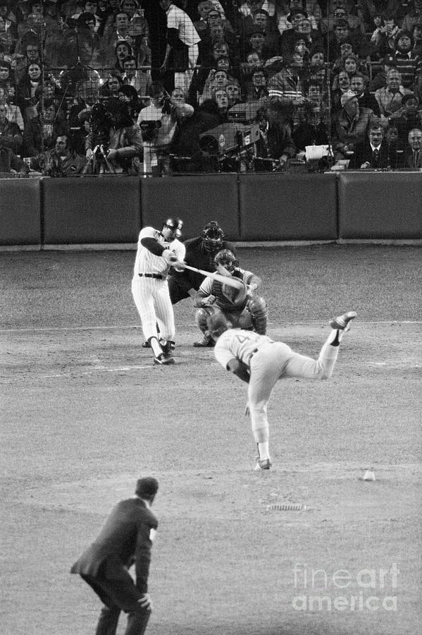 Reggie Jackson Hits Homer Photograph by Bettmann