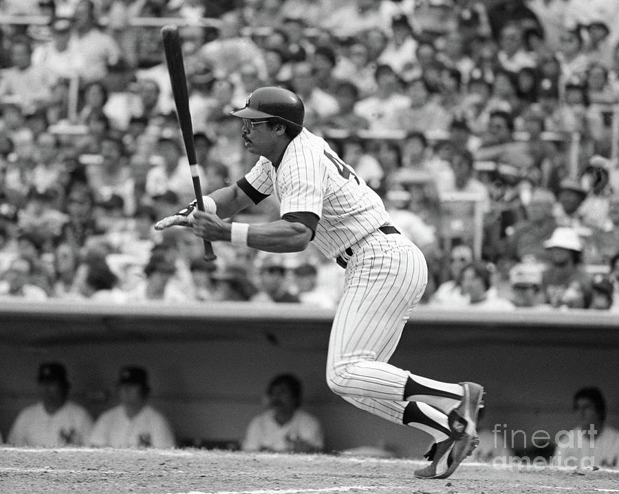 Reggie Jackson New York Yankees Photograph by Mitchell Reibel