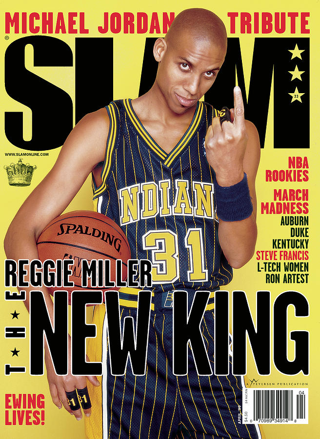 Reggie Miller: The New King SLAM Cover Photograph by Clay Patrick McBride