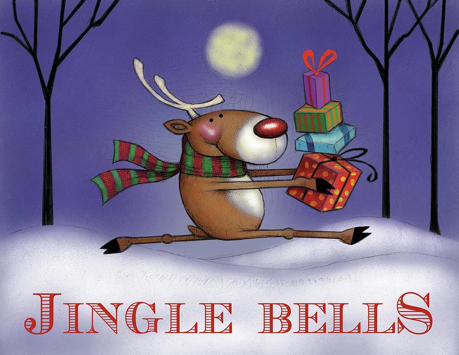 Christmas Digital Art - Reindeer 6 by Margaret Wilson