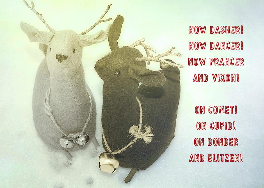 Reindeer Photograph - Reindeer Dash Quote by JAMART Photography