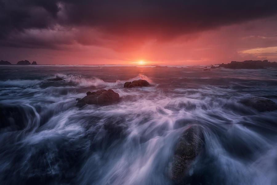 Sea Photograph - Reira by Carlos F. Turienzo