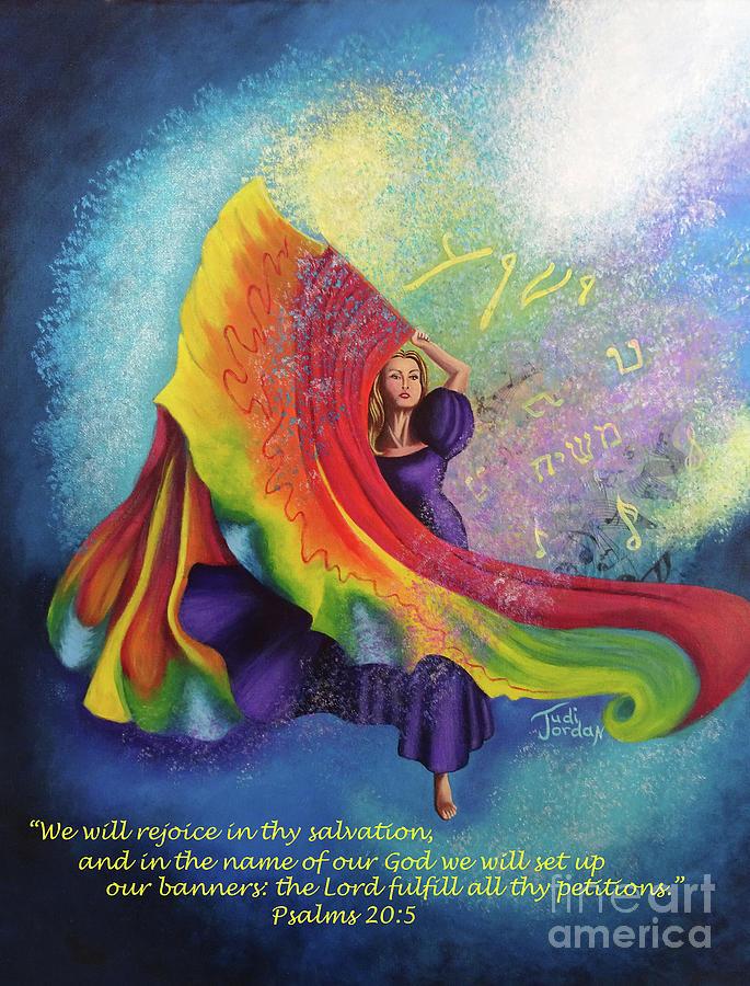 Flagging Painting - Rejoice by Judi Jordan
