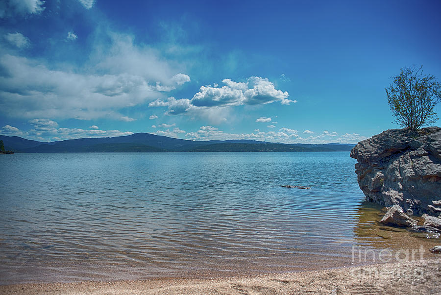 Landscape Photograph - Relax By The Water Of Lake Cda by Matthew Nelson