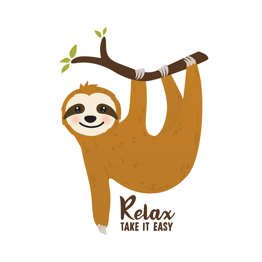 Relax Take It Easy - Baby Room Nursery Art Poster Print by Dadada Shop