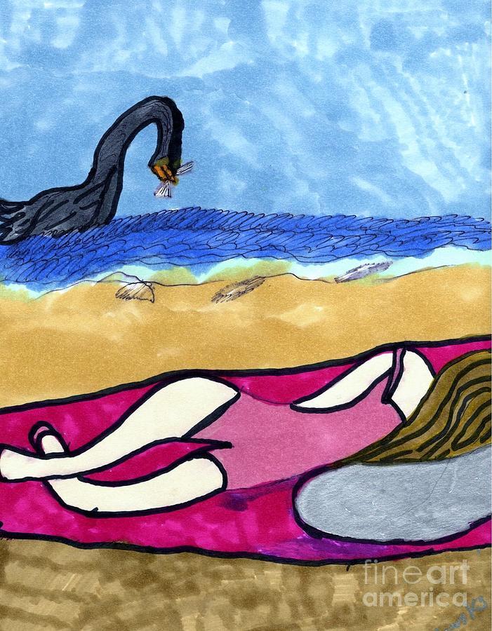 Relaxed Beach Time by Elinor Helen Rakowski