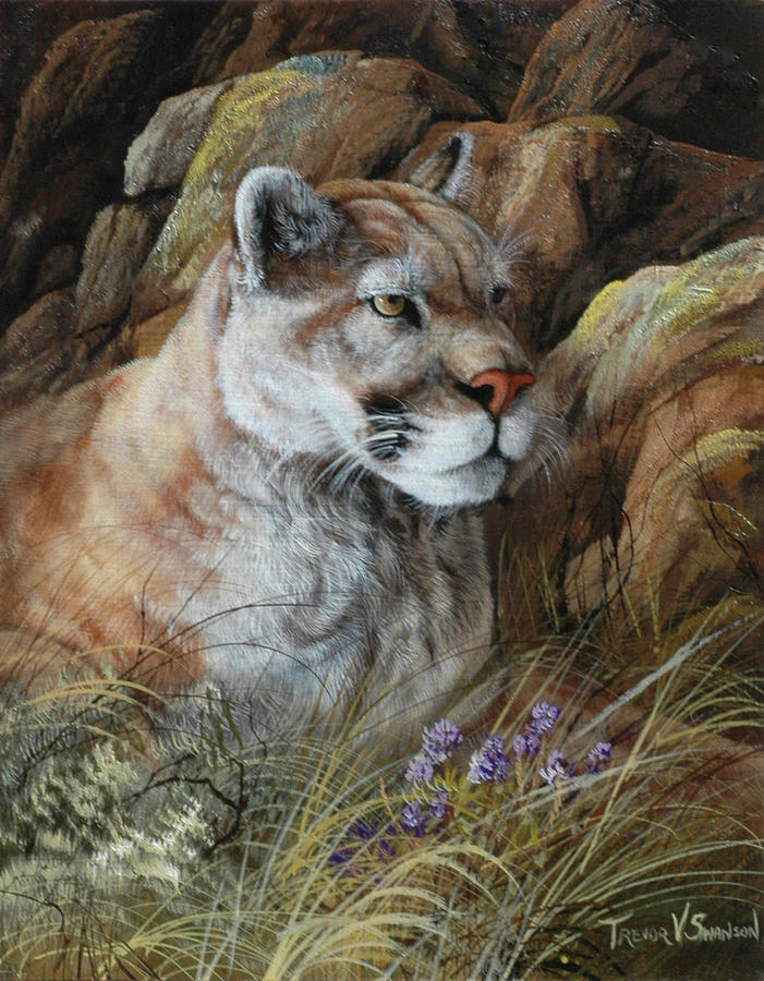 Wildlife Painting - Relaxed But Attentive by Trevor V. Swanson