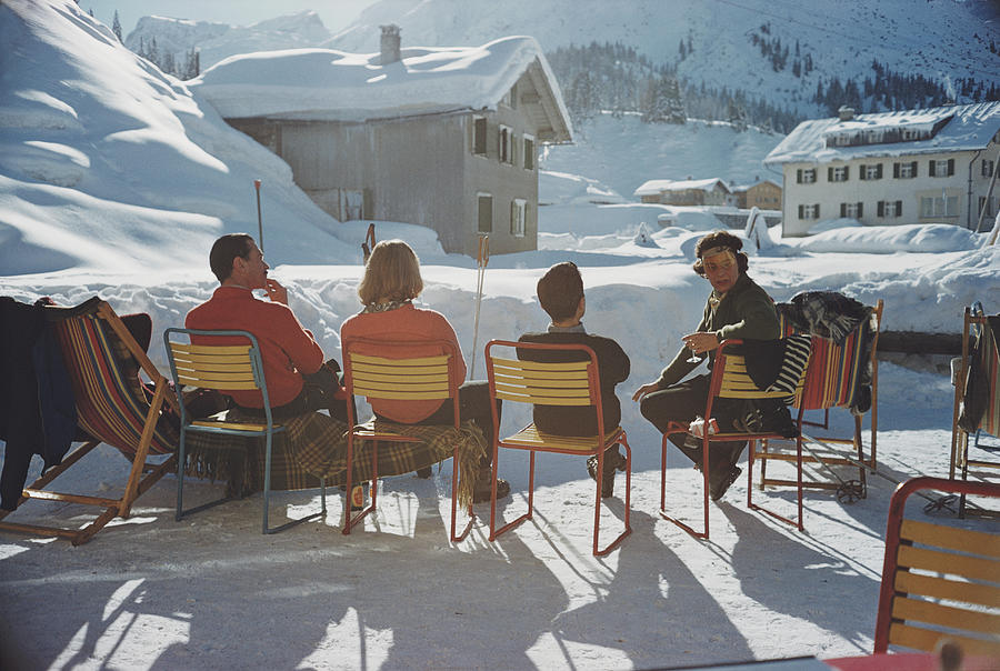 Relaxing In Lech Photograph by Slim Aarons