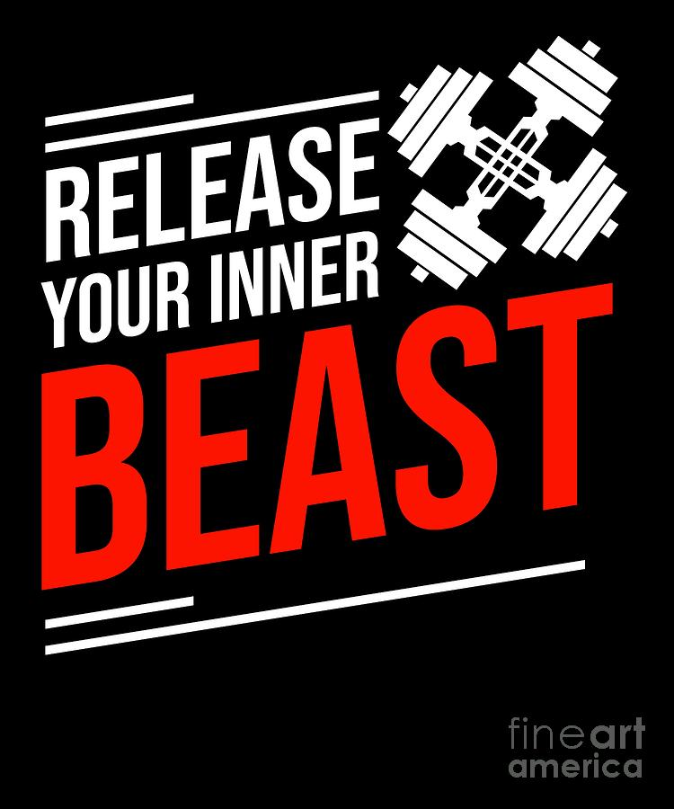 Release Your Inner Beast Fitness Gym Workout Quote