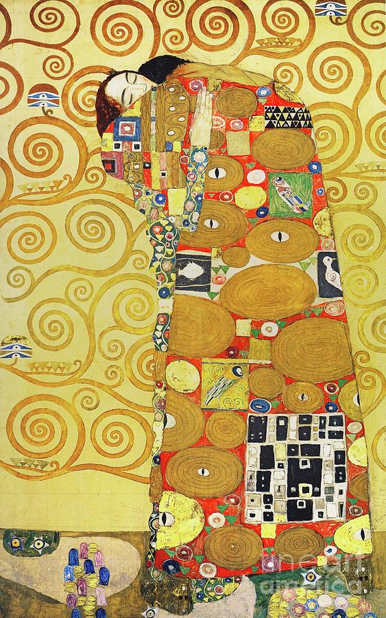 Wingsdomain Photograph - Remastered Art Preparatory Design Stoclet Palace Frieze By Gustav Klimt 20190215 by Wingsdomain Art and Photography
