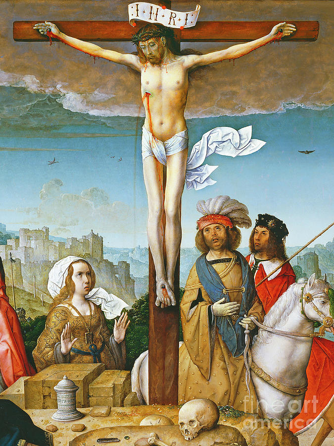 Wingsdomain Photograph - Remastered Art The Crucifixion By Juan De Flandes 20190929 V2 by Wingsdomain Art and Photography