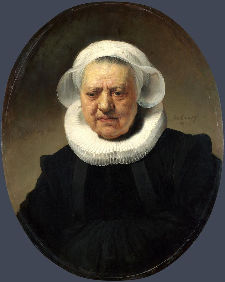Rembrandt Harmenszoon Van Rijn - Portrait Of Aechje Claesdr Painting