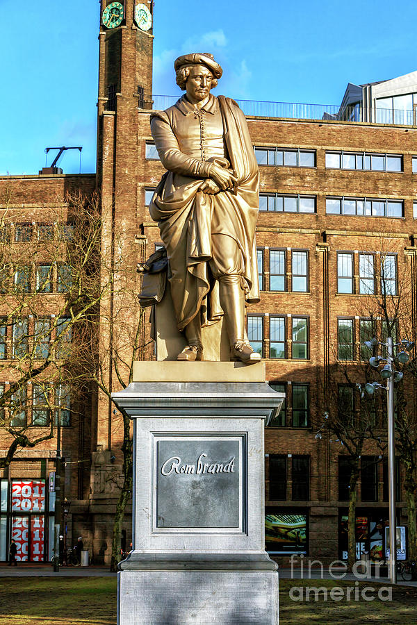 Rembrandt on Rembrandtplein in Amsterdam by John Rizzuto