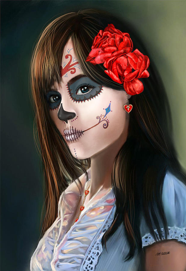 Remember Day of the Dead Sugar Skull  by Maggie Terlecki