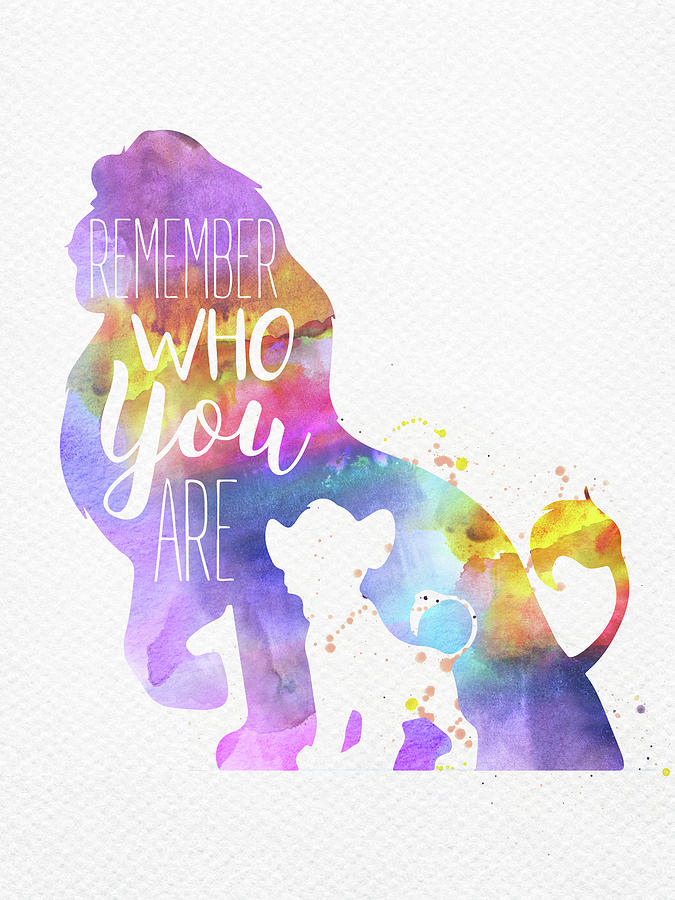 Remember Quote The Lion King Watercolor