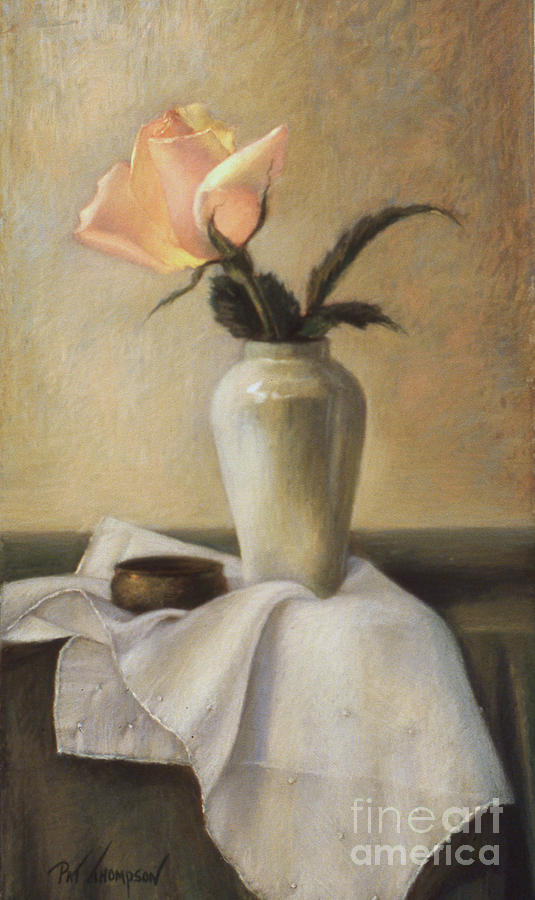 Still Life Pastel - Remembered Rose by Pat Thompson