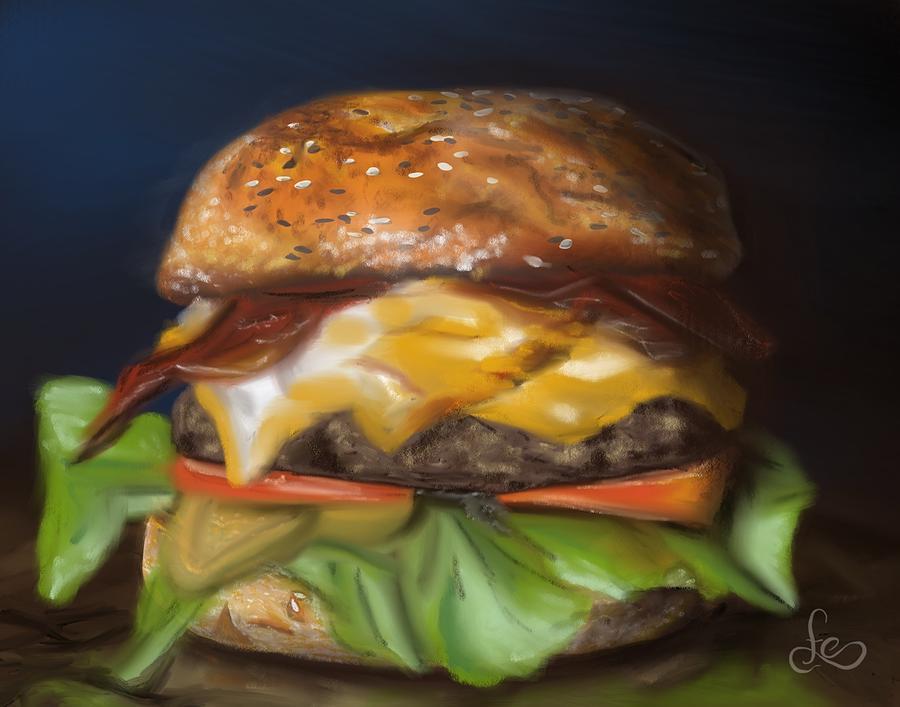 Burger Pastel - Renaissance Burger  by Fe Jones