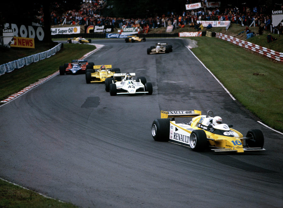 Rene Arnoux In The British Grand Prix Photograph by Heritage Images