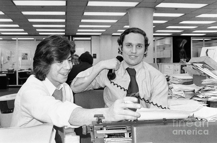 Reporters Carl Bernstein And Bob Photograph by Bettmann