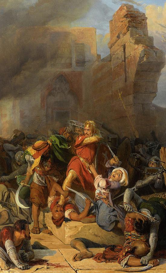 Reprise Du Chateau De Jaffa Occupe Par Saladin Par Le Roi Dangleterre Richard Coeur De Lion