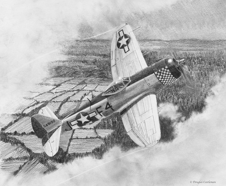 Republic P-47D Thunderbolt Drawing by Douglas Castleman