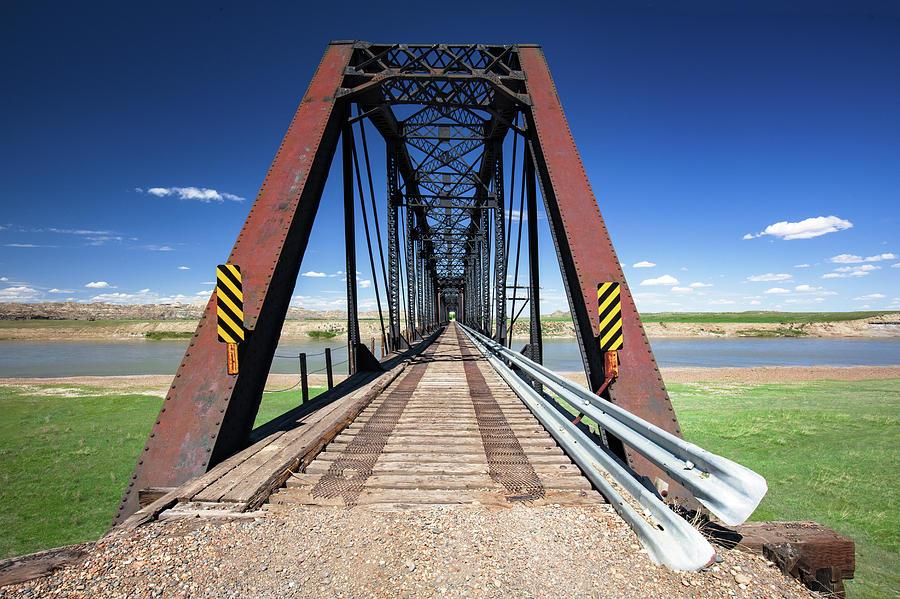 Railroad Bridge Photograph - Repurposed Bridge by Todd Klassy