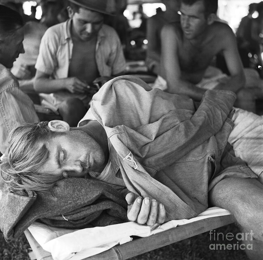 Rescued American Pow Sleeping On Cot Photograph by Bettmann