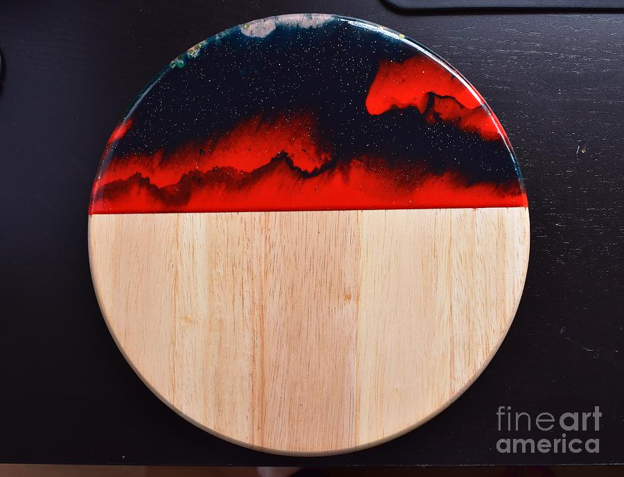 Resin-Cutting Board 17 by Monika Shepherdson