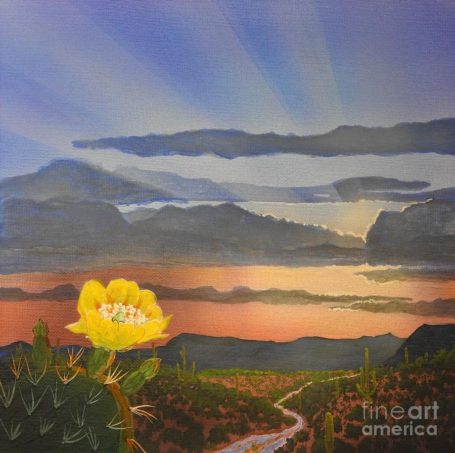 Arizona Painting - Resplendent Rays by Jerry Bokowski