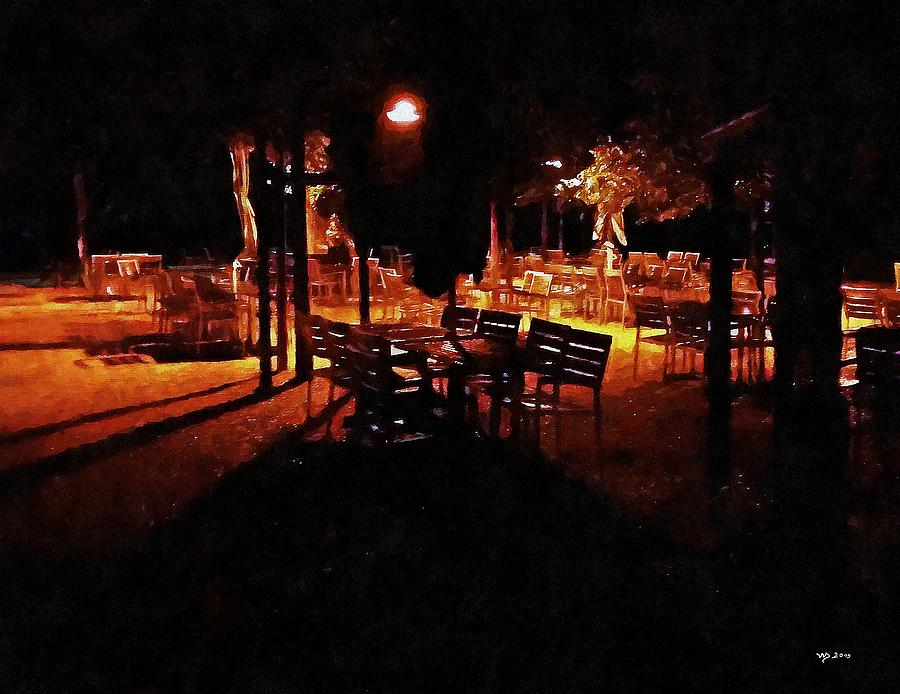 Restaurant at night by Wolfgang Schweizer