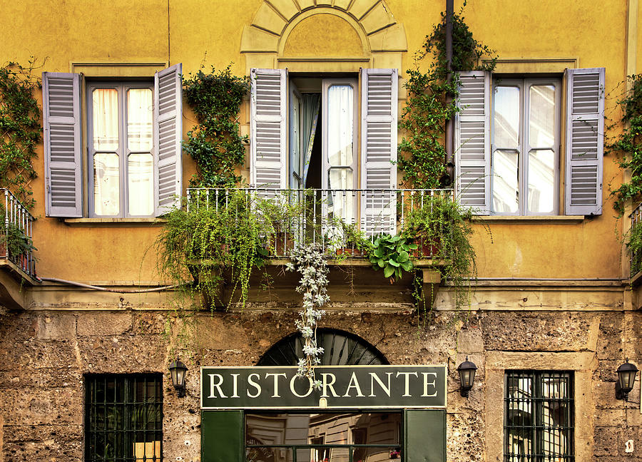 Restaurant In Italy Photograph by Nikada