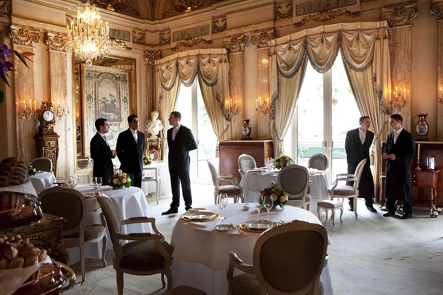 Restaurant Louis Xv At The Hotel De Photograph by Maurice Rougemont