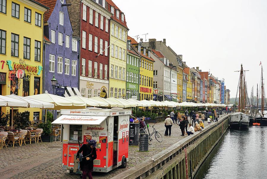 Restaurant Row In Copenhagen Denmark by Richard Rosenshein