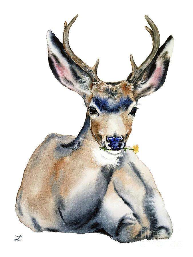 Resting Deer by Zaira Dzhaubaeva