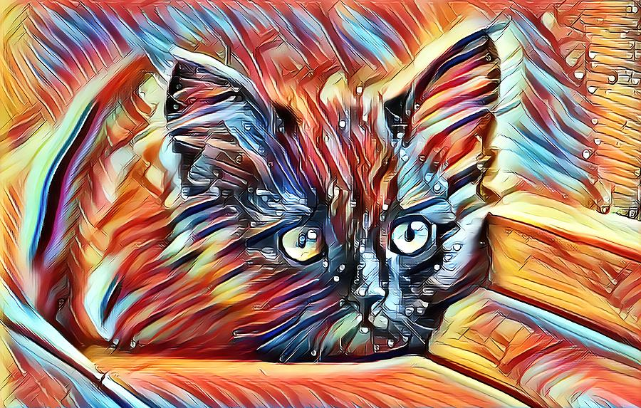 Resting Kitten Abstract Autumn by Don Northup