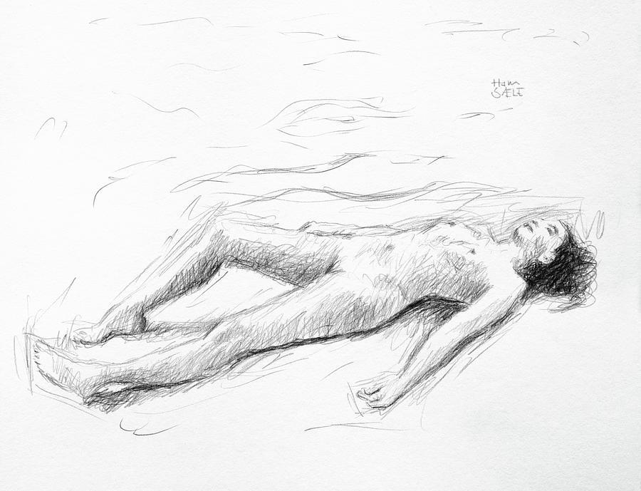 Resting Nude by Hans Egil Saele