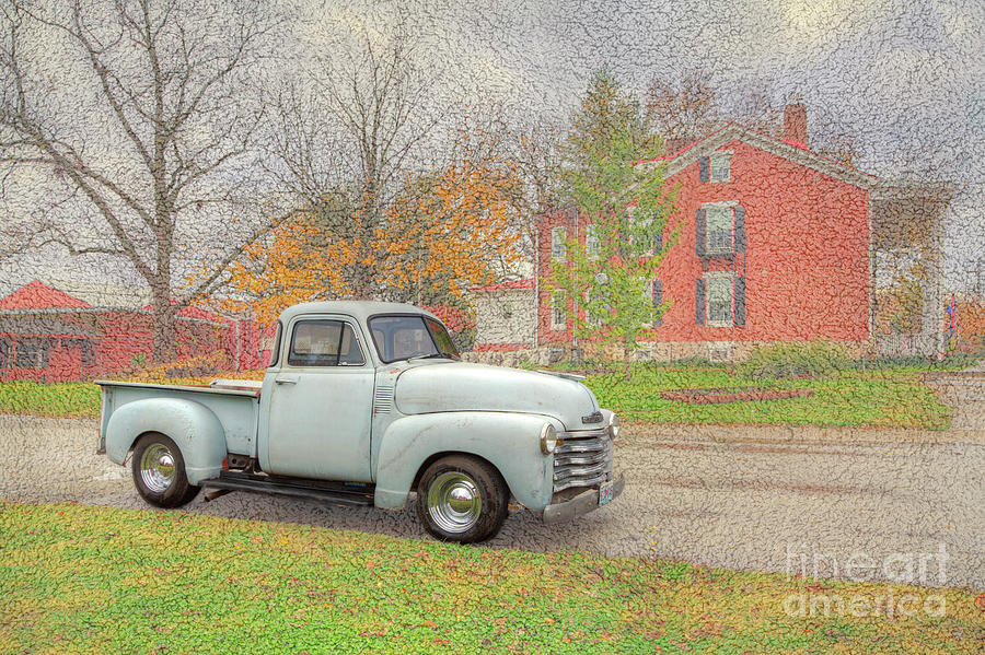 Horizontal Digital Art - Restored 1948 Chevy Pickup by Larry Braun