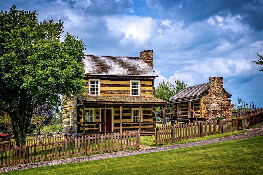Restored Farmhouse on 1830s Farmstead by Carolyn Derstine