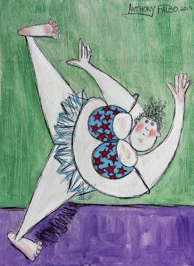 Retired Ballerina Stretching   by Anthony Falbo