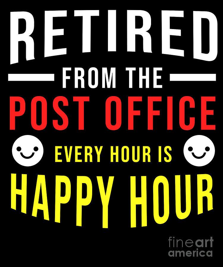 Seafood Digital Art - Retirement Post Office Retired Postal Worker Gift by TeeQueen2603