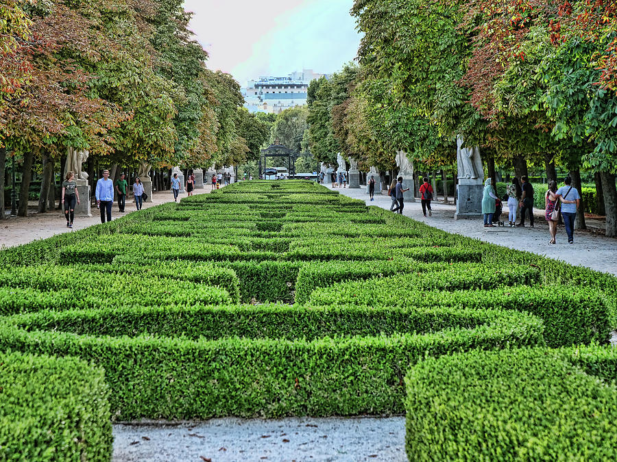 Retiro Park Statuary - Madrid Photograph