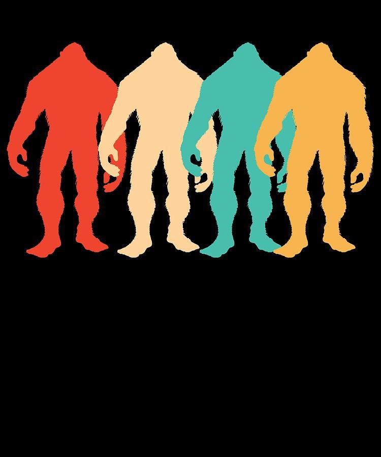 Retro Bigfoot Sasquatch Apparel Gift