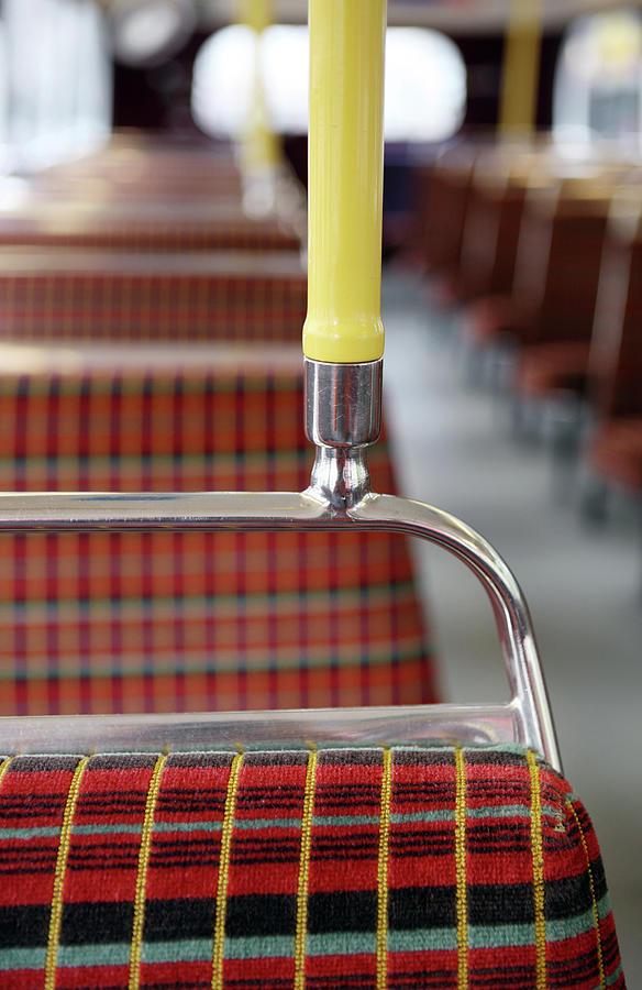 Retro Bus Seats Photograph by Richard Newstead