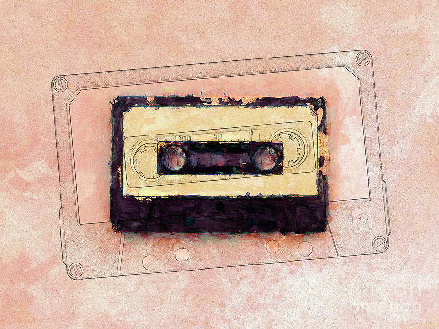 Retro Cassette Tape by Phil Perkins