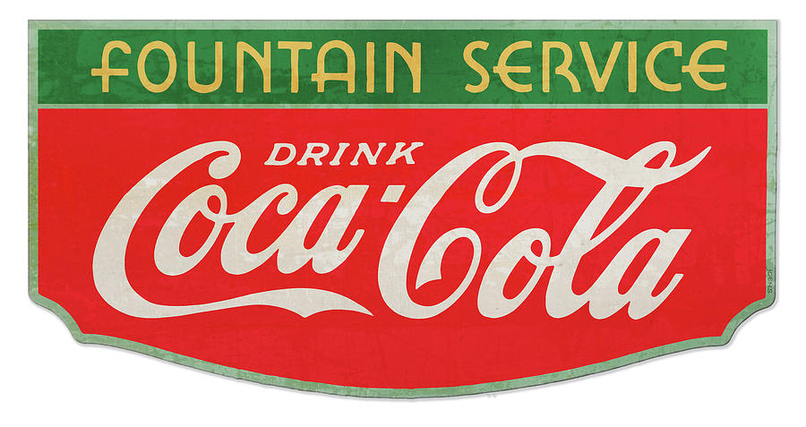 Retro Coke Sign Drawing