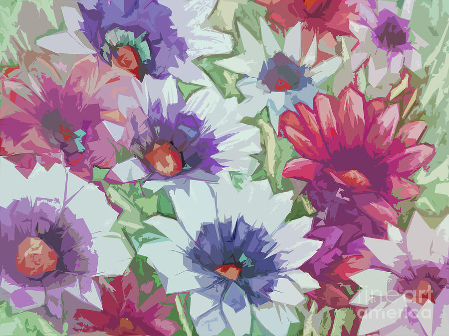 Retro Floral Design by Pamela Iris Harden